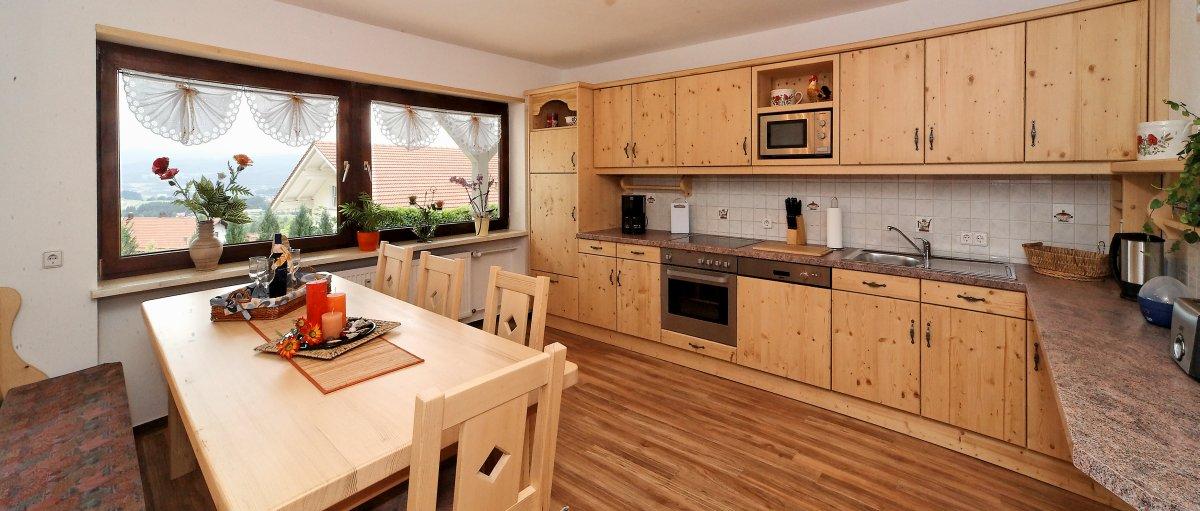 Bayerischer Wald Gruppenferienhaus  große Küche